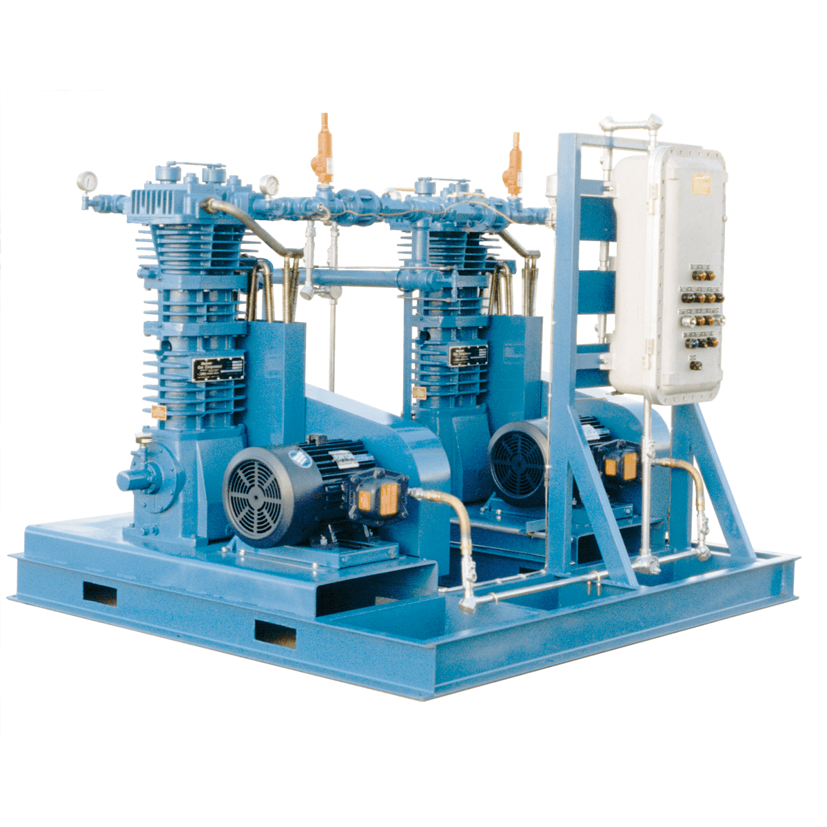 Blackmer_Dual_HD613B_Industrial_Reciprocating_Gas_Compressor_Skid